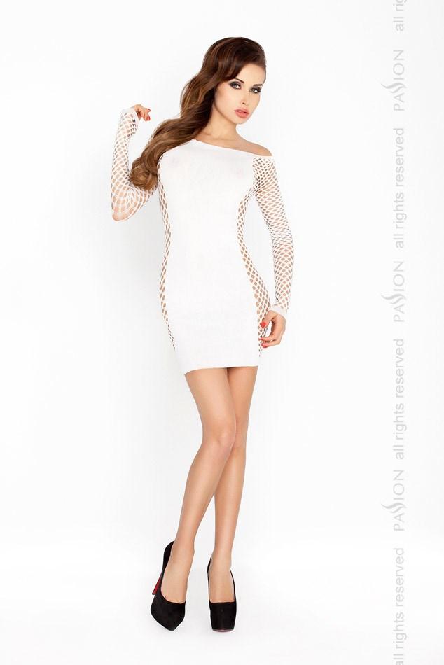 Passion BS025 white - Erotické šaty