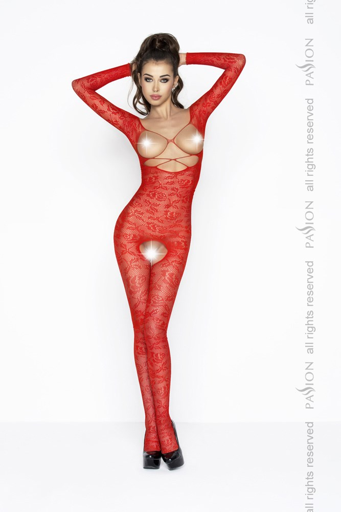 Passion BS031 red - Bodystocking