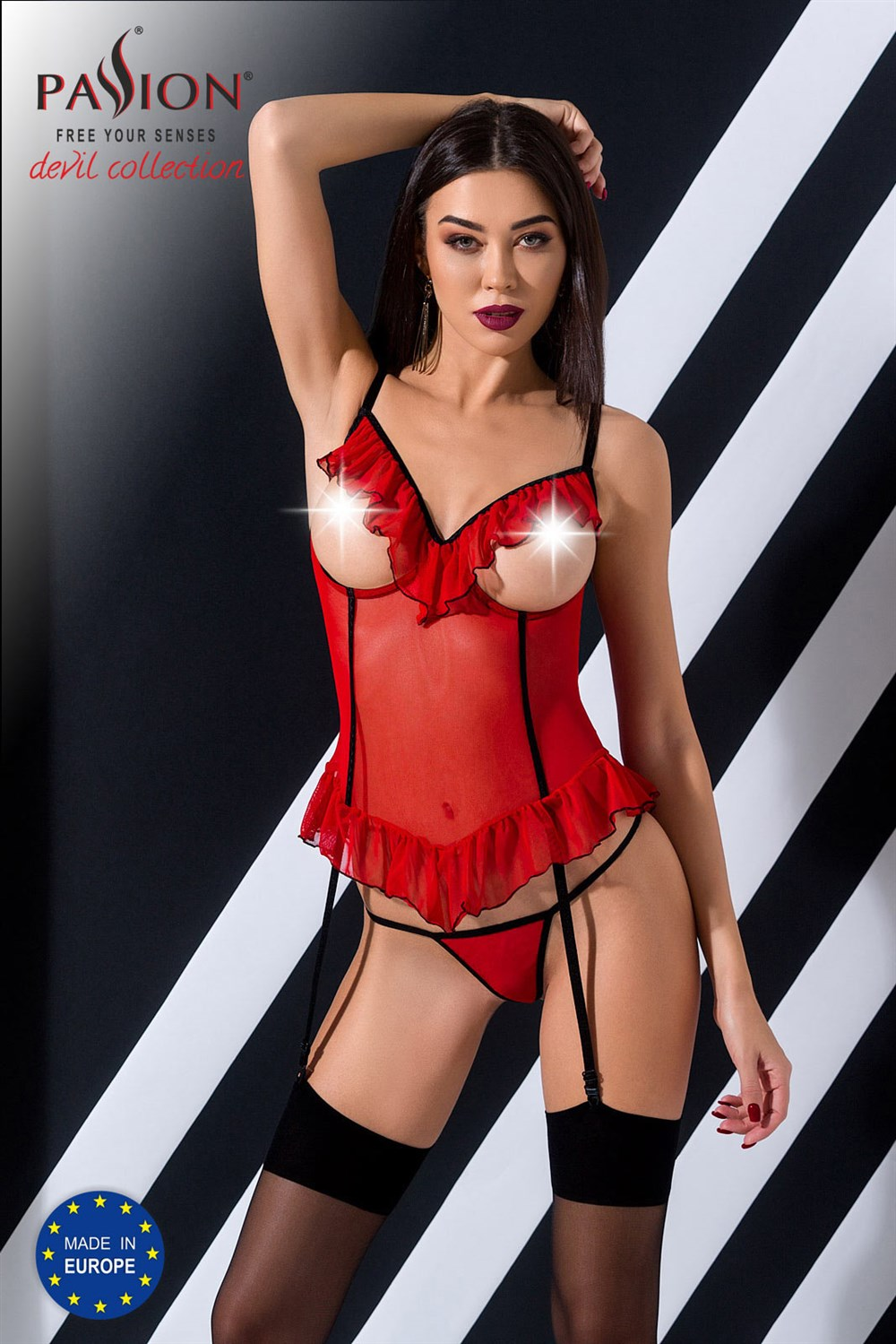 Passion Cherry Corset red