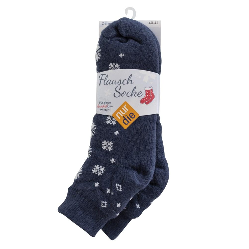 Zateplené ponožky NurDie Flausch Socke modré