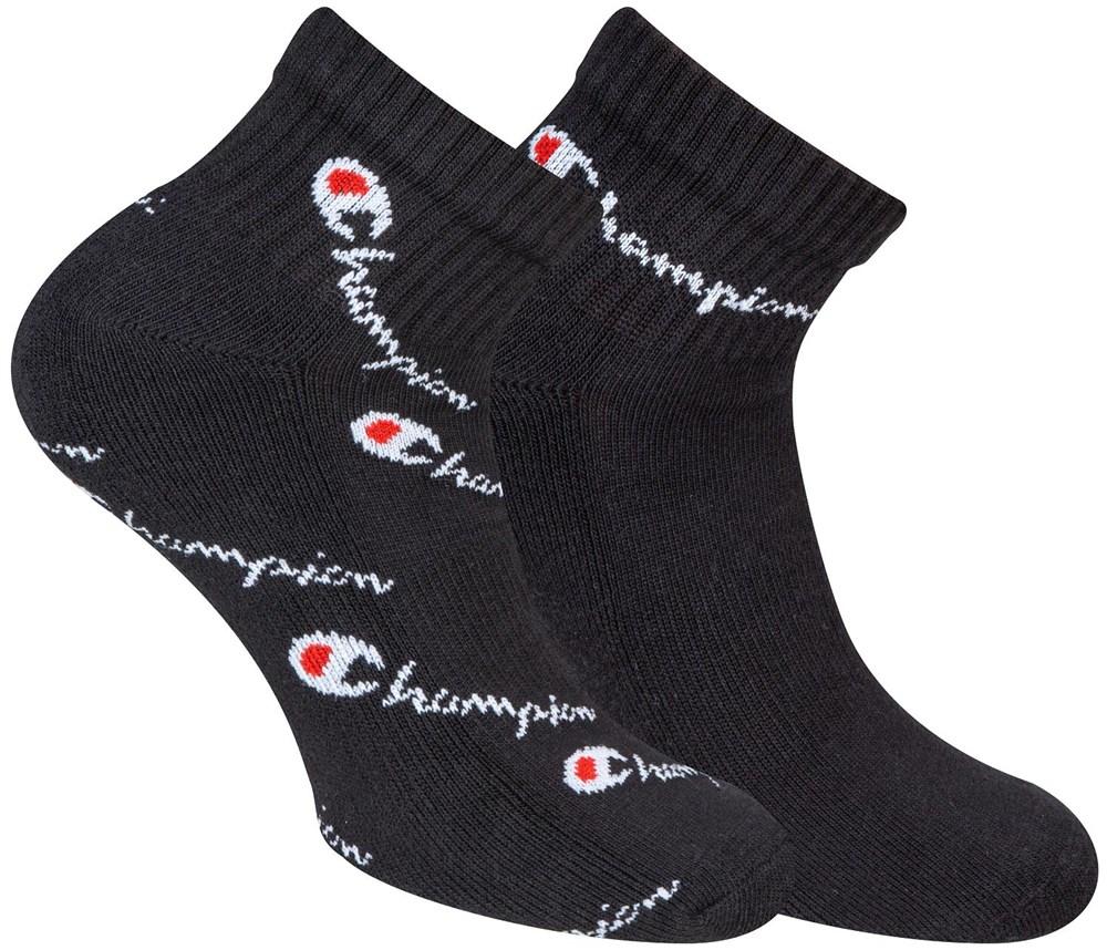 Ponožky CHAMPION ANKLE SOCKS FASHION MIX Allover 2páry, černé