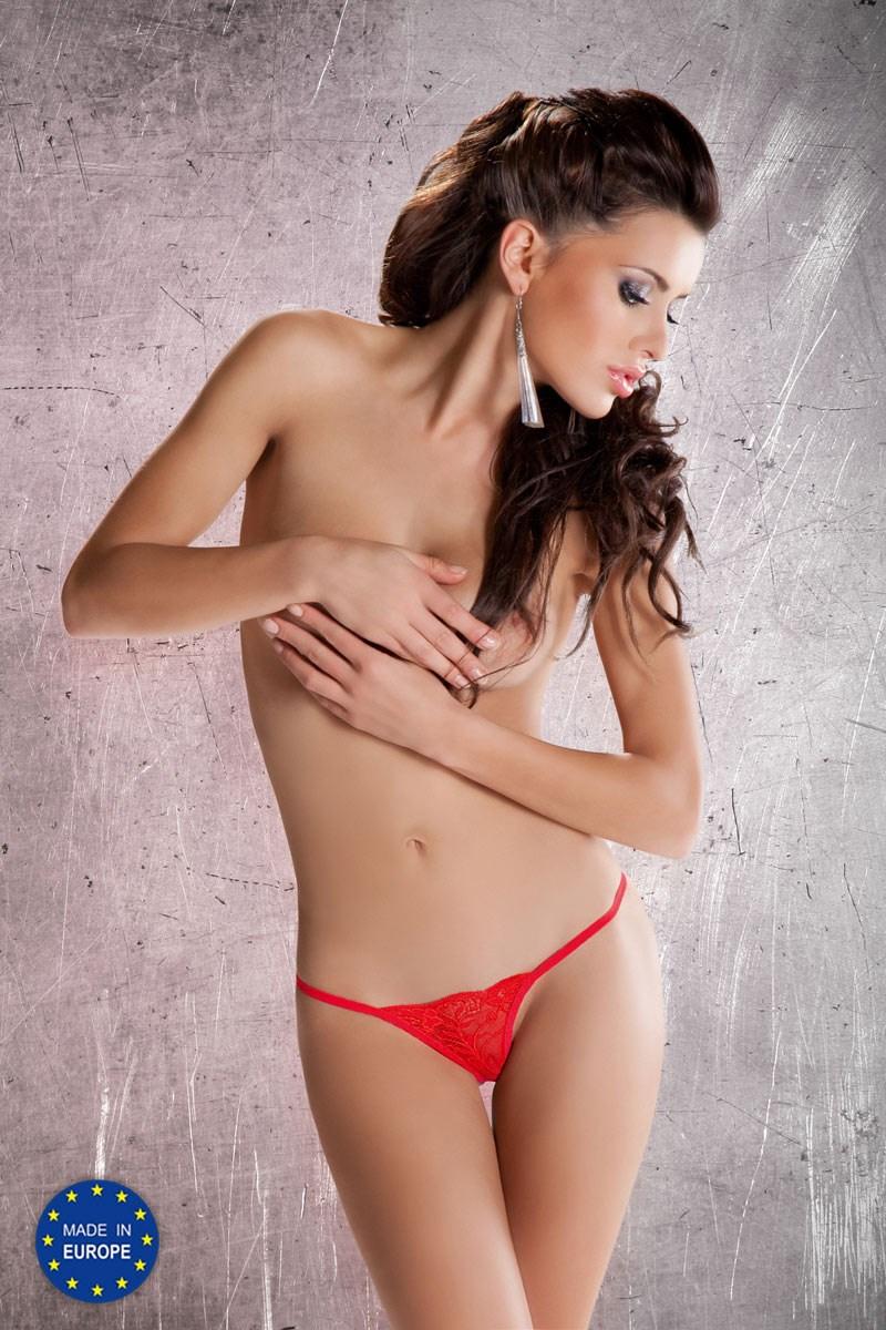 Passion MT005 red - Dámská erotická tanga