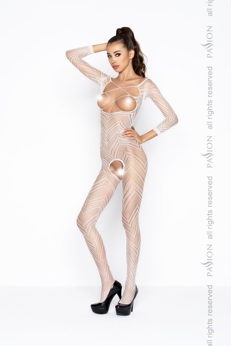 Bodystocking Passion BS040W bílá