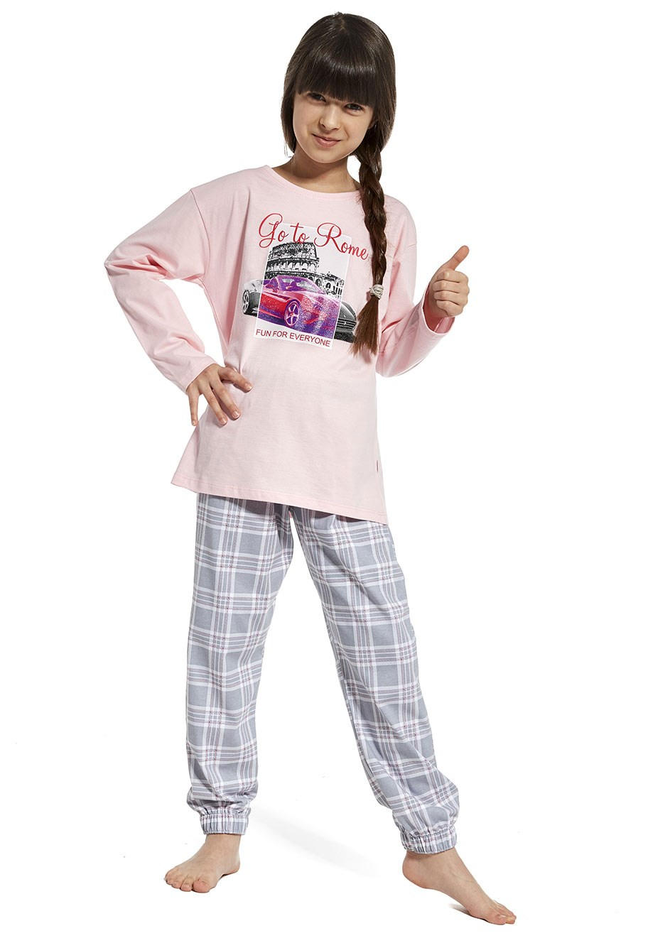 "Dívčí pyžamo Cornette ""Go to rome"" 540/81 kids , young"