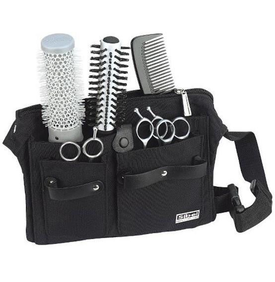 SIBEL Practical Kadeřnická kapsa na nůžky a pomůcky - černá