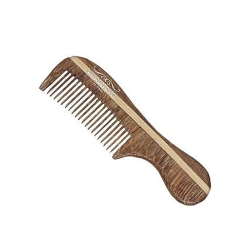 BARBURYS Rosewood Mustache MINI - Hřebínek s ručkou z palisandrového dřeva pro úpravu knírků
