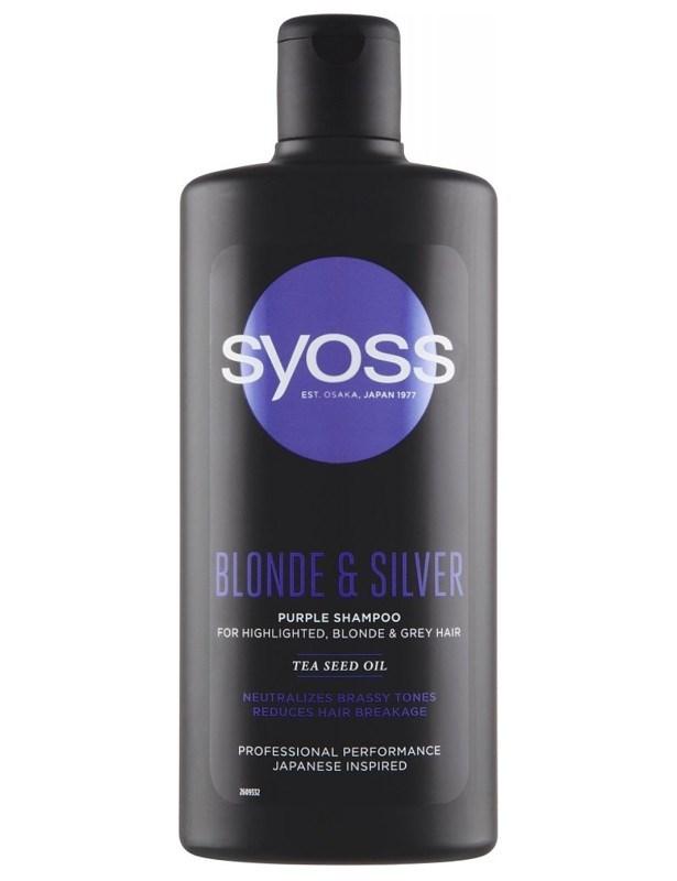 SYOSS Professional Blonde And Silver Purple Shampoo 500ml - pro melírované, bílé a šedivé vlasy