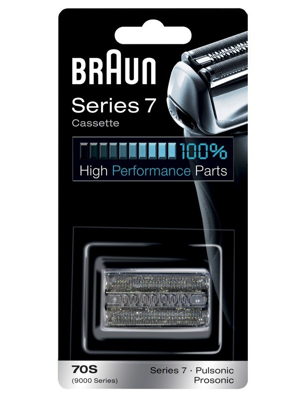 BRAUN Series 7-70S CombiPack Silver - náhradní planžeta pro strojky Braun Series 7 - stříbrná