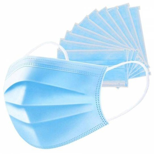 Hygienická rouška 10ks Ochranné jednorázové třívstvé roušky z netkané textilie