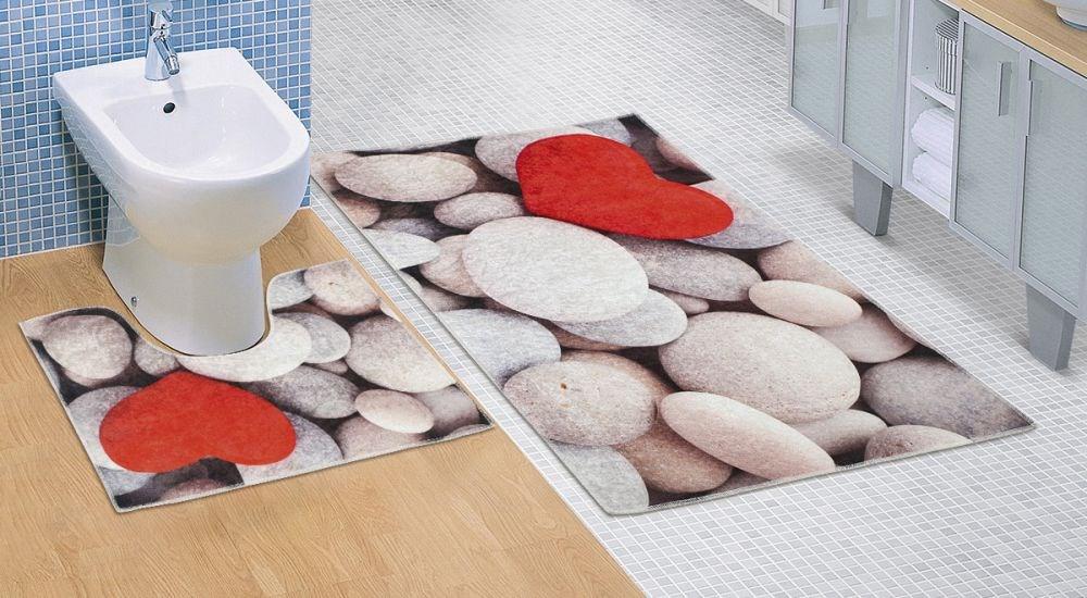 Kvalitex Koupelnová a WC předložka Světlé kameny 3D