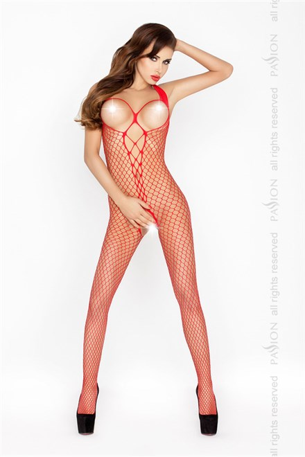Bodystocking Passion BS014 červená