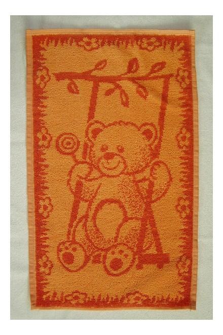 Dětský ručník Dadka Medvídek oranžový