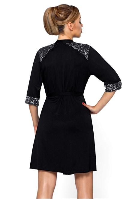 Dámský župan Hamana Helen gown černá - stříbrná