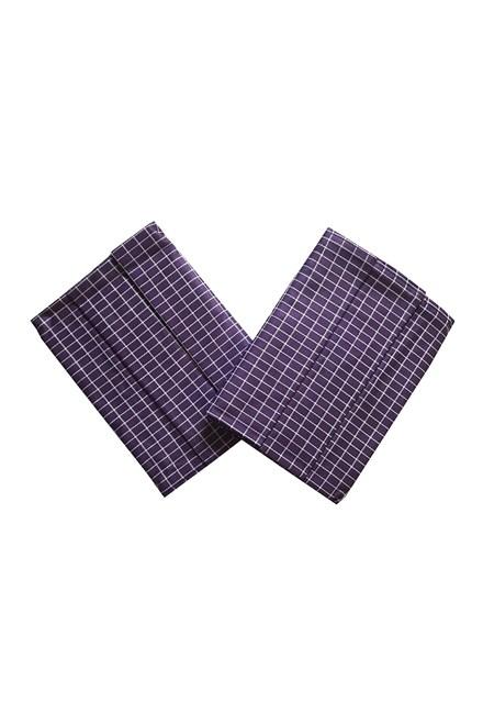 Utěrka Extra savá Drobná kostka fialovo/bílá - 3 ks