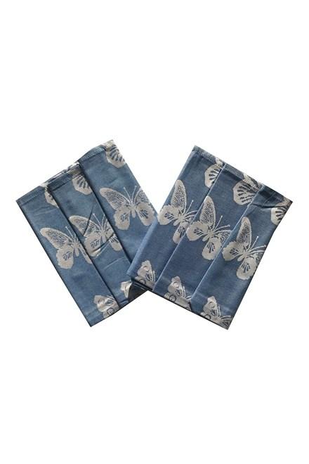Utěrka Extra savá 50x70 Motýlci - modrá - 3 ks