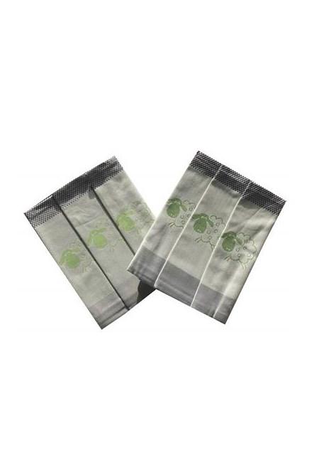 Utěrka Extra savá 50x70 Ovečky kostka zelená - 3 ks