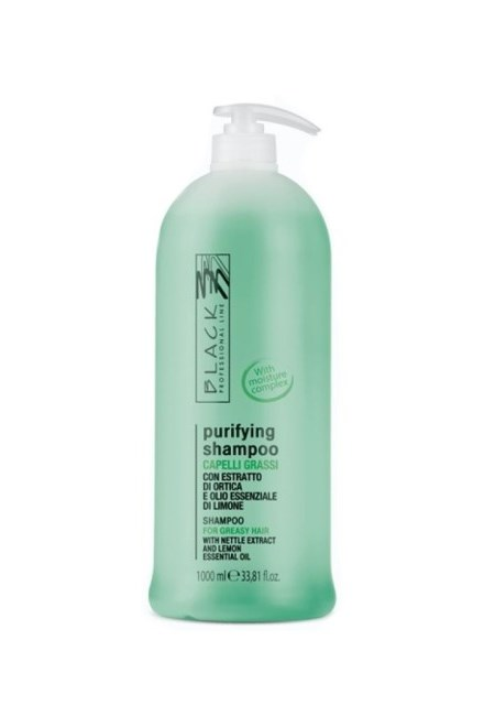 BLACK Shampoo Seboequilibrance 1000ml - šampon pro mytí mastných vlasů