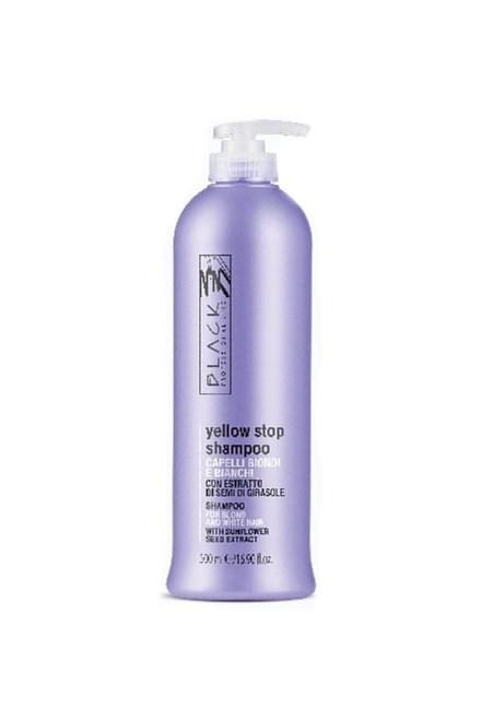 BLACK Yellow Stop Shampoo Antigiallo 500ml - šampon pro melírované a šedivé vlasy