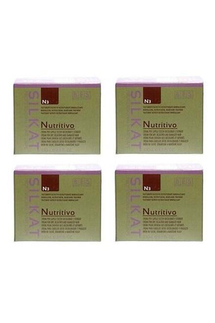 BES Silkat Nutritivo N3 Regenerační zábalová maska pro extra poškozené vlasy 250ml AKCE 3+1