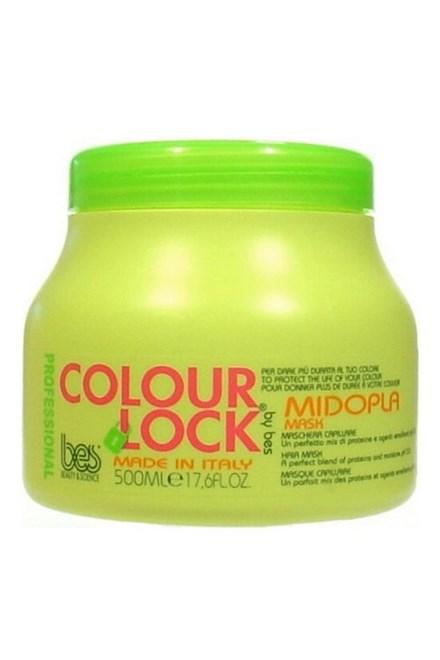 BES Colour Lock Maschera Midopla pH 3,0 - regenerační maska na vlasy pro fixaci barvy 500ml