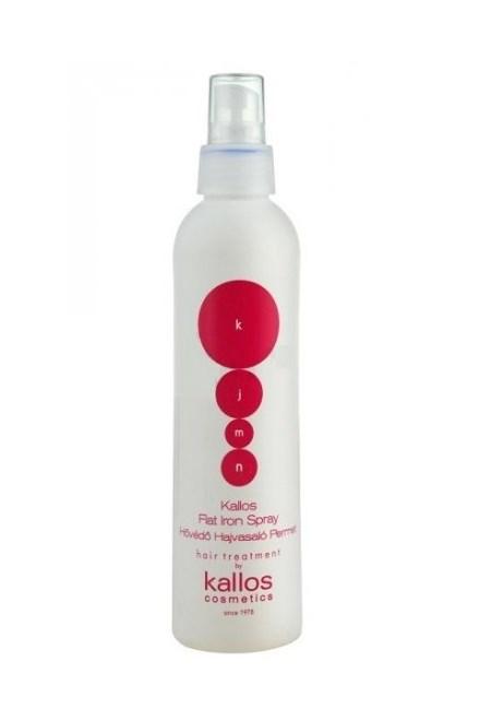 KALLOS KJMN Flat Iron Spray 200ml - ochranný sprej před teplem při žehlení vlasů