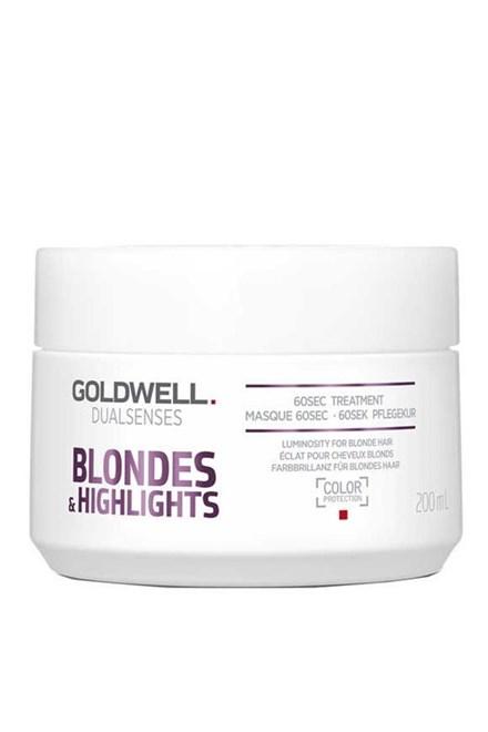 GOLDWELL Dualsenses Blondes And Highlights 60sec.Treatment 200ml - maska pro bílou blond