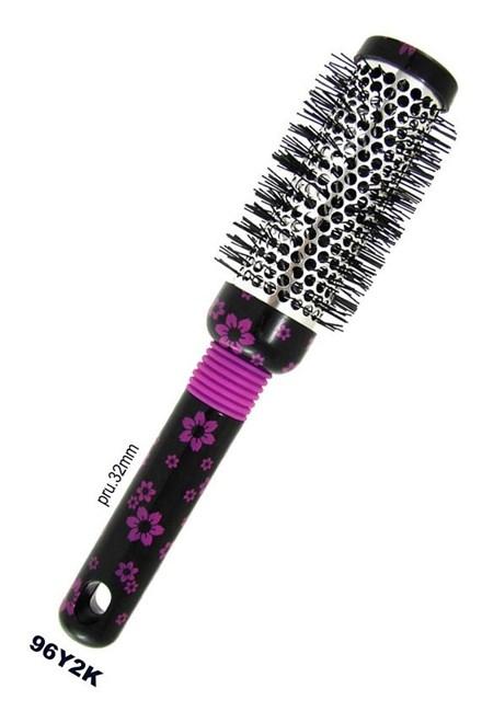 DUKO Kartáče Kulatý kadeřnický vyhřívací kartáč na vlasy serie K vzor květ - 32mm