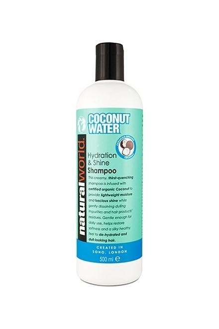 NATURAL WORLD COCONUT WATER Shampoo 500ml - kokosový šampon pro lesk vlasů