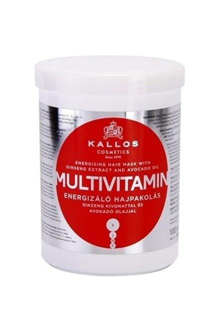 KALLOS KJMN Multivitamin Hair Mask 1000ml - posilující maska na suché vlasy