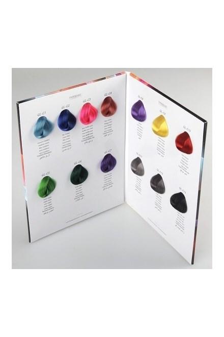BLACK Glam Colors Vlasový vzorník permanentních barev na vlasy Glam Colors