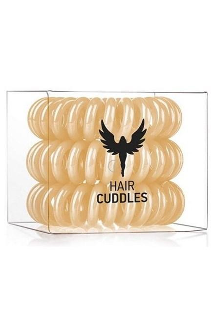 HH SIMONSEN Hair Cuddles Gold 3ks - spirálové gumičky do vlasů - zlaté