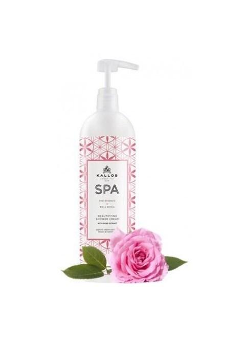 KALLOS SPA Beautifying Shower Cream 1000ml - sprchový gel s extraktem z růží