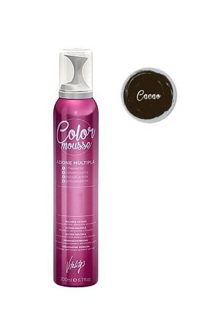 VITALITYS Color Mousse CACAO barevné pěnové tužidlo 200ml - tmavě hnědé