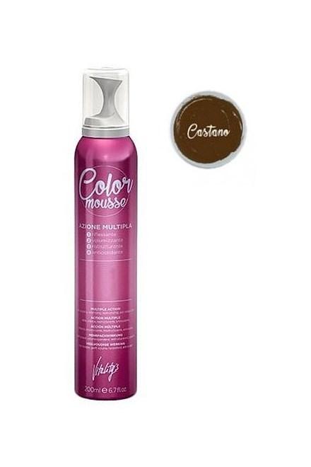 VITALITYS Color Mousse CASTANO barevné pěnové tužidlo 200ml - světle hnědé