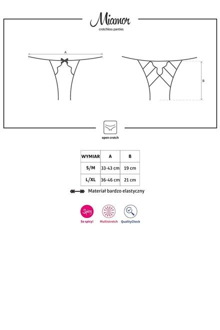 Kalhotky Obsessive Miamor crotchless panties