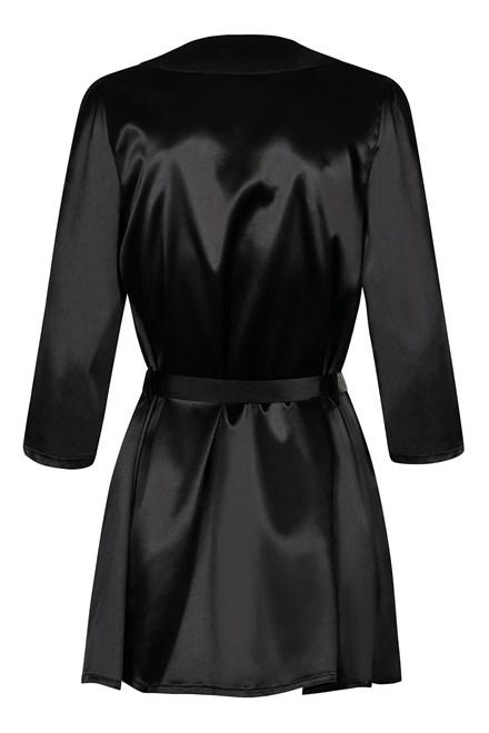 Dámský župan Obsessive Satinia robe black