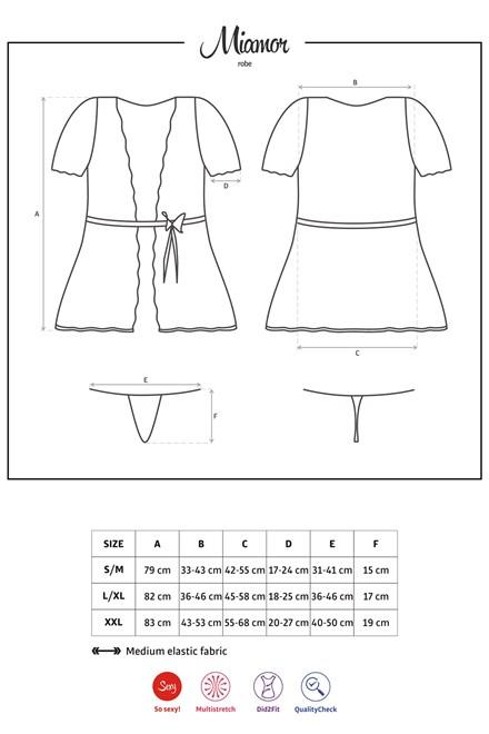Dámský župan Obsessive Miamor robe