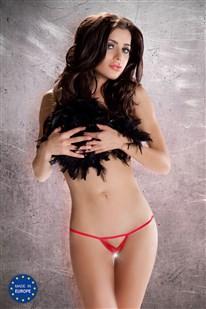 Dámská erotická tanga Passion MT007 červená