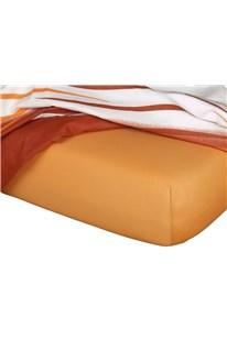 Jersey prostěradlo  karamel B