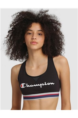 Sportovní podprsenka CHAMPION CROP TOP AUTHENTIC černá
