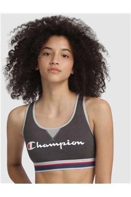 Sportovní podprsenka CHAMPION CROP TOP AUTHENTIC šedá tmavě