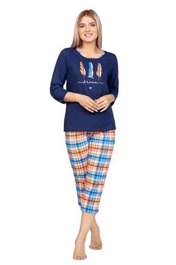 Dámské 3/4 pyžamo Regina 978 Granat