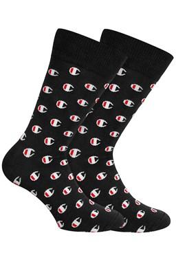 Ponožky CHAMPION CREW SOCKS ALLOVER C FASHION 2kusy, černé