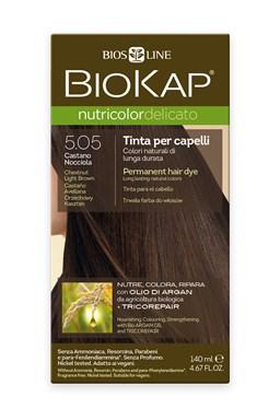 BIOKAP NUTRICOLOR DELICATO - Barva na vlasy - 5.05 Hnědá - světlý kaštan 140 ml