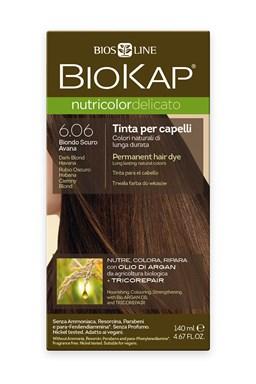BIOKAP NUTRICOLOR DELICATO - Barva na vlasy - 6.06 Blond tmavá Havana 140 ml