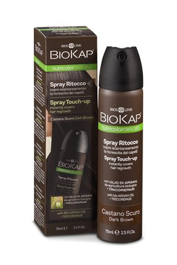 BIOKAP Nutricolor Delicato Spray Touch Up - Hnědá světlá - 75 ml