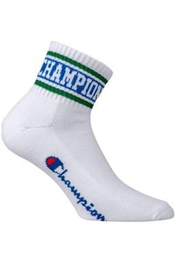 Ponožky CHAMPION ANKLE SOCKS Rochester Old School, bílá - zelená