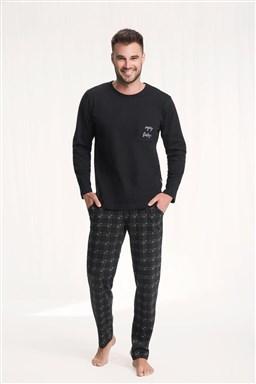 Pánské pyžamo Luna 705 Granat