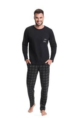 Pánské pyžamo Luna 705 Black