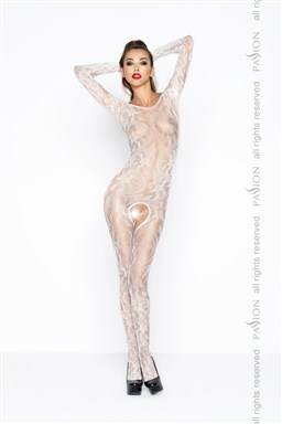 Bodystocking Passion BS042 bílá